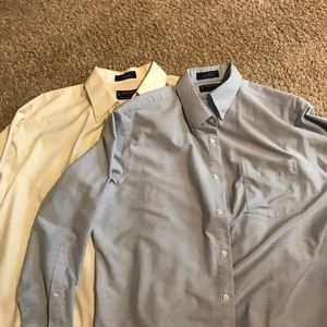 Two Men's Stafford Button Up Shirts!!